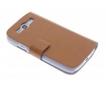 Bruin stijlvolle booktype Samsung Galaxy S3 / Neo