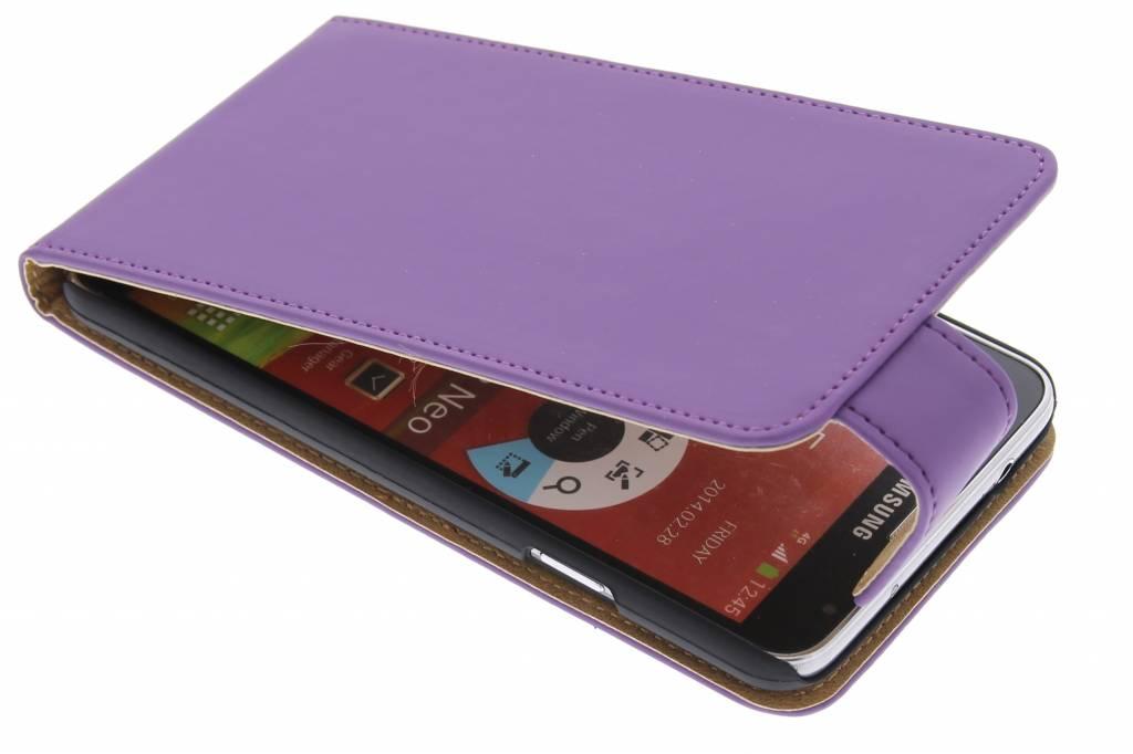 Paarse classic flipcase voor de Samsung Galaxy Note 3 Neo