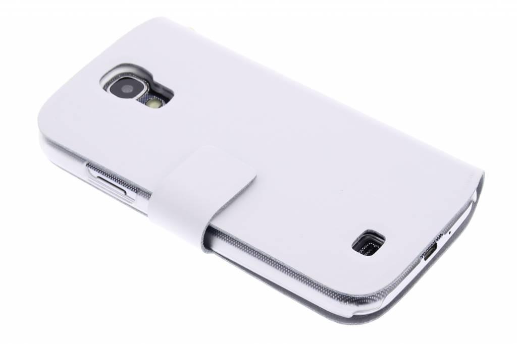 Witte stijlvolle booktype hoes voor de Samsung Galaxy S4