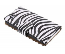 Zebra booktype hoes Sony Xperia Z1 Compact
