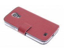 Rood stijlvolle booktype hoes Samsung Galaxy S4