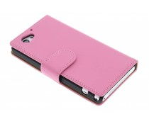 Effen booktype hoes Sony Xperia Z1 Compact