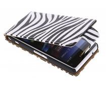 Zebra flipcase Sony Xperia Z1 Compact