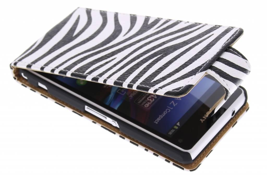Zebra flipcase voor de Sony Xperia Z1 Compact