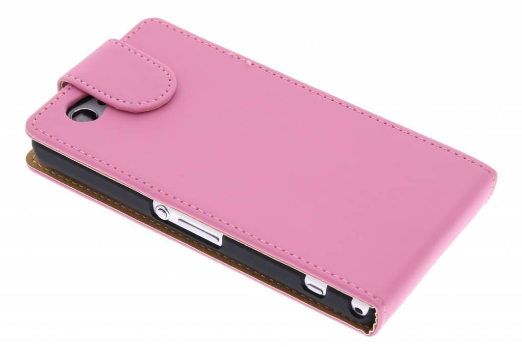 Rose Cas Flip Classique Pour Sony Xperia Z1 Compact 63G1GK