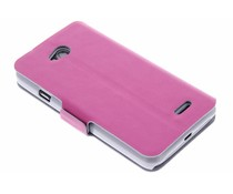 Fuchsia luxe booktype hoes LG L70 / L65