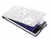 Luxe glazen strass flipcase Sony Xperia Z2