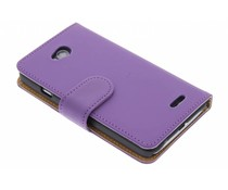 Paars effen booktype hoes LG L70