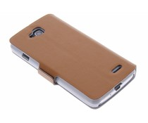 Bruin luxe booktype hoes LG L90