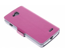 Fuchsia luxe booktype hoes LG L90