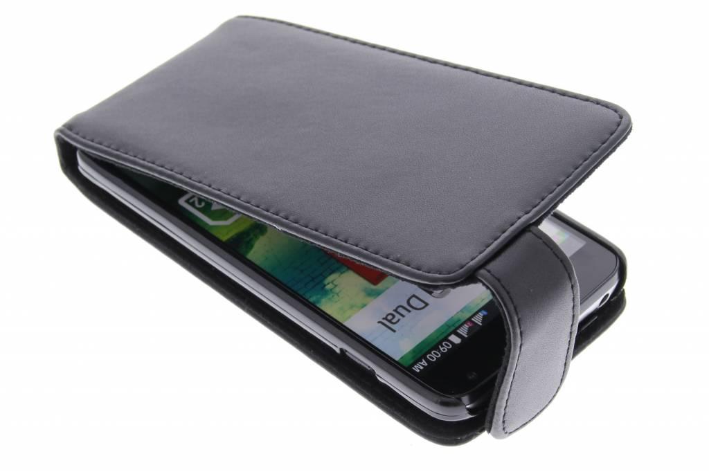 Zwarte stijlvolle flipcase voor de LG L90