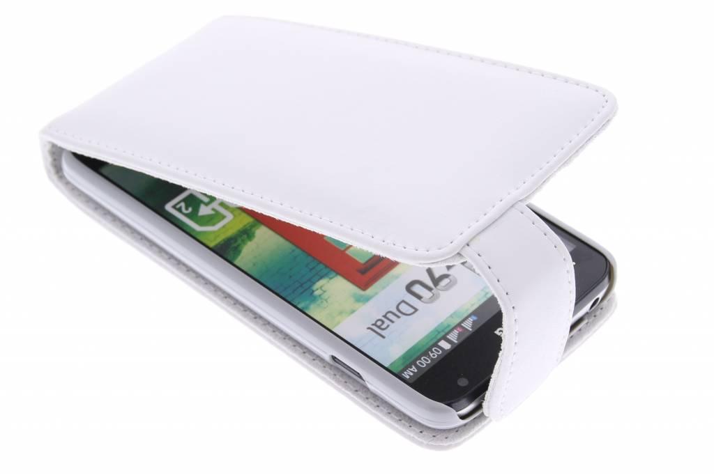 Witte stijlvolle flipcase voor de LG L90