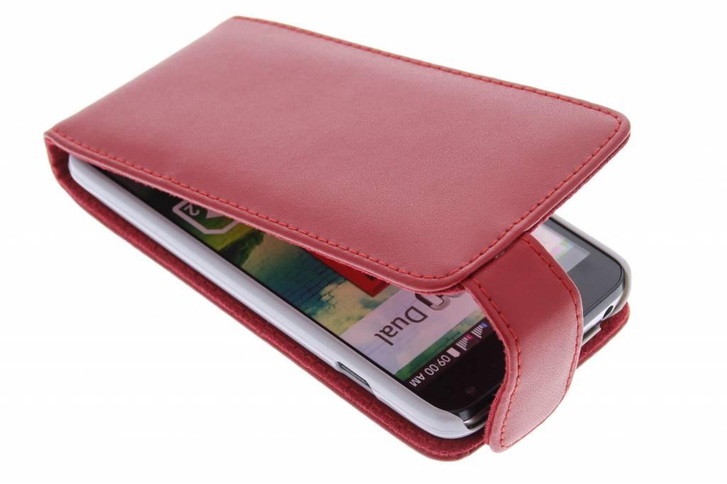 Rode stijlvolle flipcase voor de LG L90