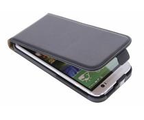 Zwart luxe flipcase HTC One M8 / M8s