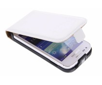 Wit luxe flipcase Samsung Galaxy Ace 3
