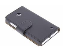 Zwart effen booktype hoes Nokia Lumia 630 / 635