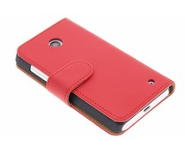 Rood effen booktype hoes Nokia Lumia 630 / 635