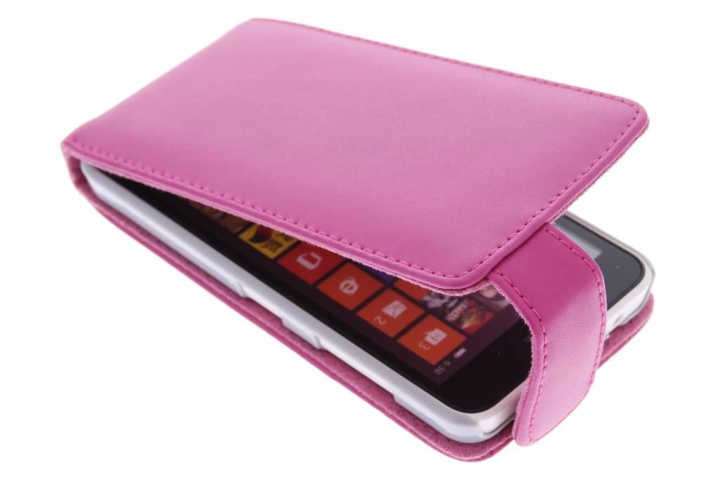 Fuchsia stijlvolle flipcase voor de Nokia Lumia 630-635