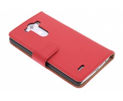 Rood effen booktype hoes LG G3