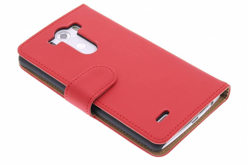 Rode effen booktype hoes voor de LG G3