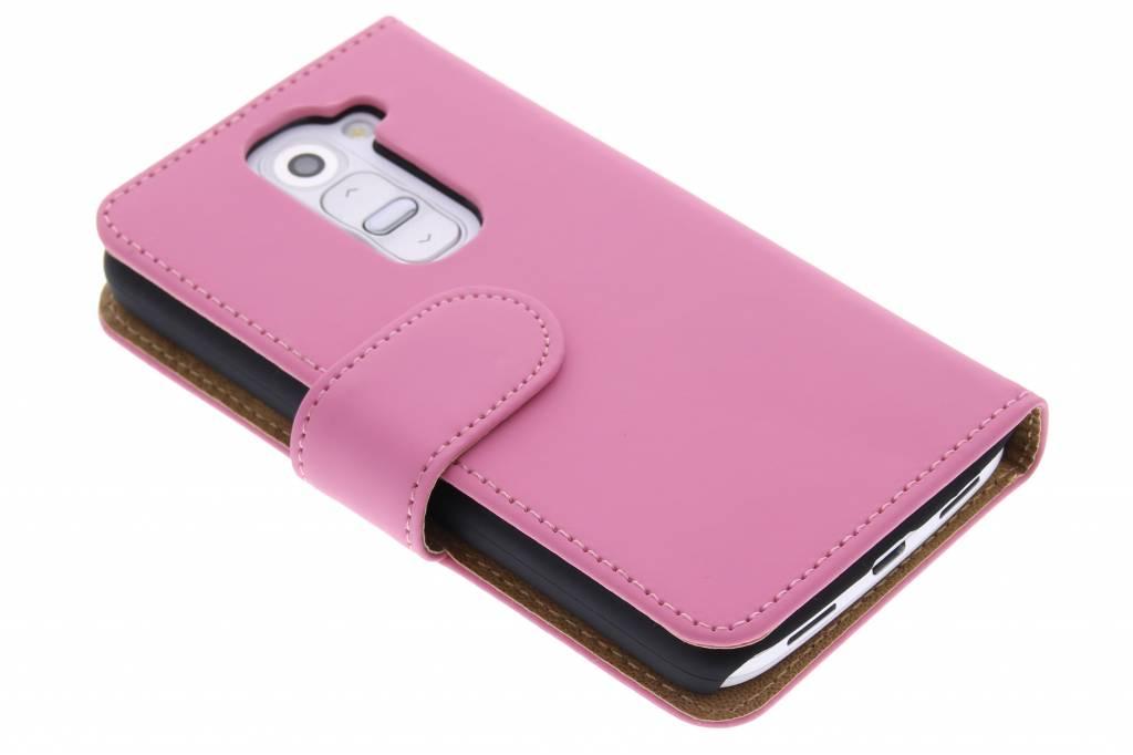 Roze effen booktype hoes voor de LG G2 Mini