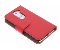 Rood effen booktype hoes LG G2 Mini