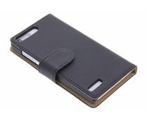 Zwart effen booktype hoes Huawei Ascend G6