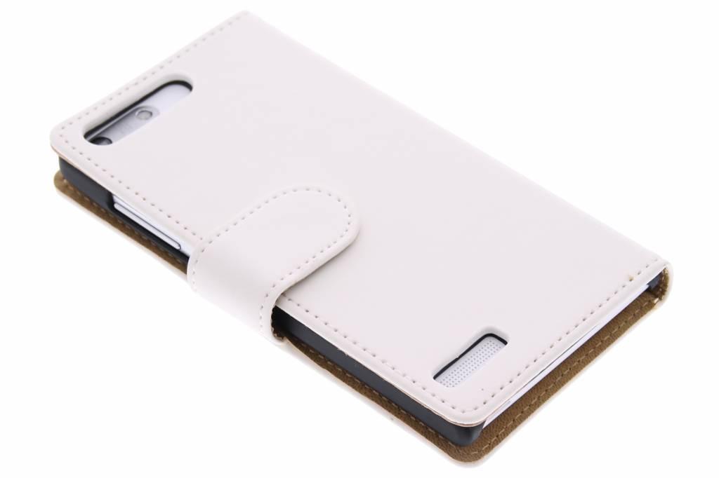 Witte effen booktype hoes voor de Huawei Ascend G6