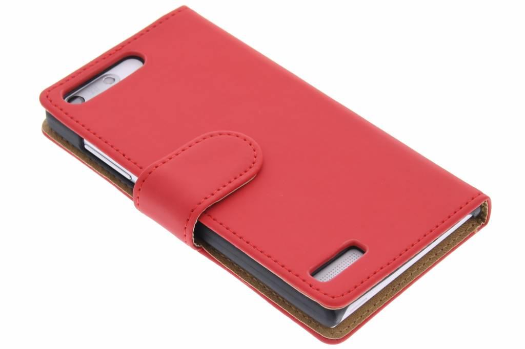 Rode effen booktype hoes voor de Huawei Ascend G6