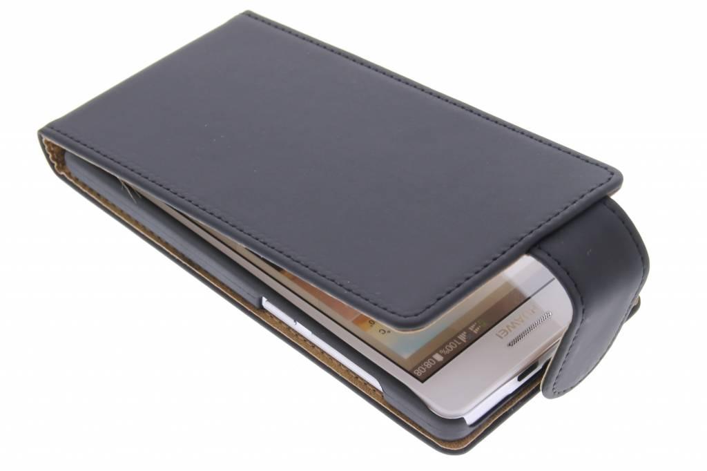 Zwarte classic flipcase voor de Huawei Ascend G6