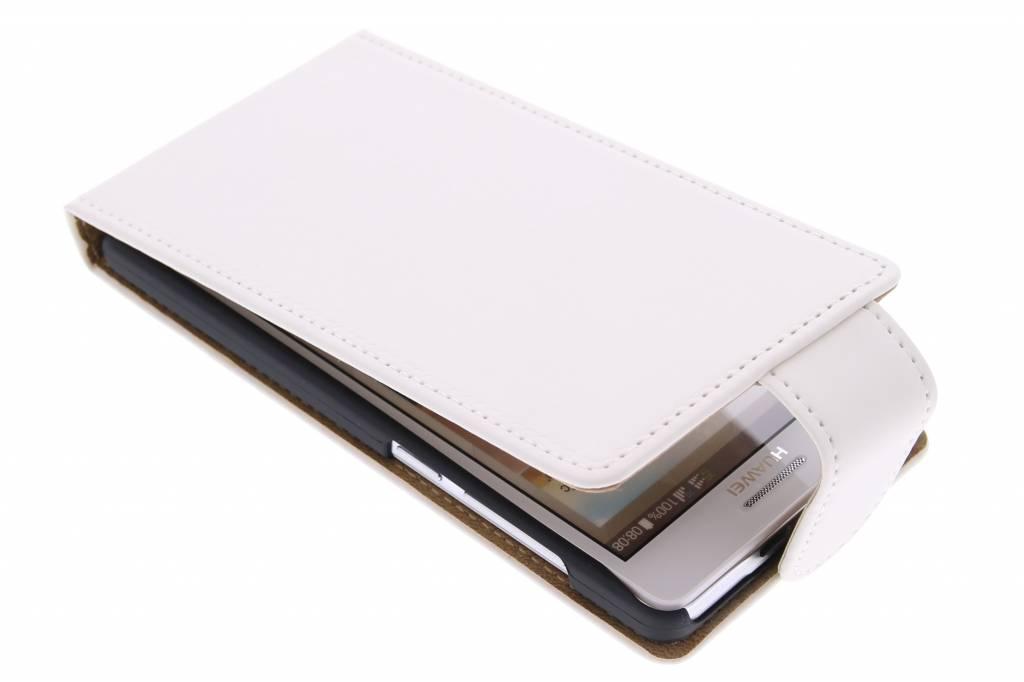 Witte classic flipcase voor de Huawei Ascend G6