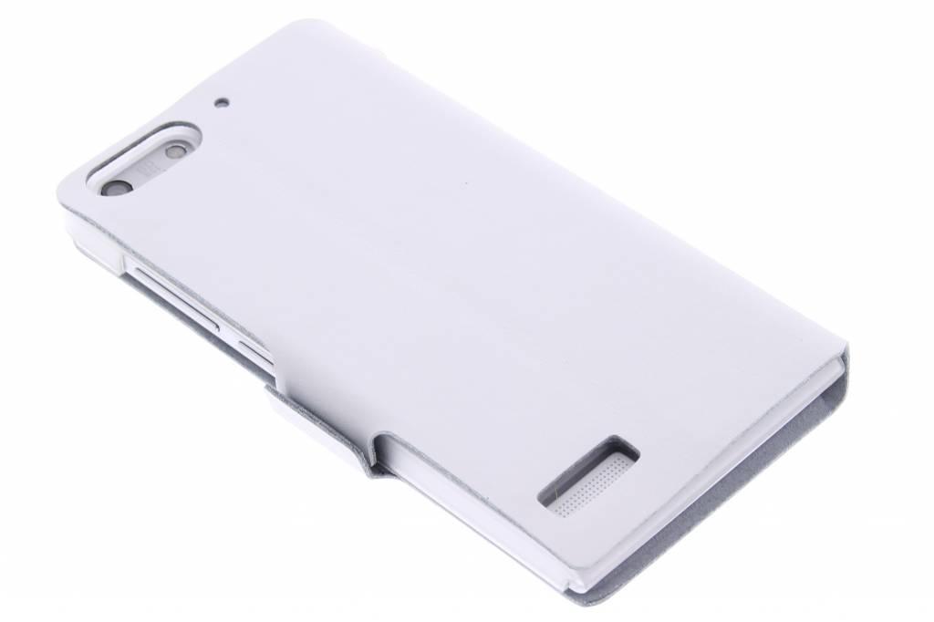Witte luxe booktype hoes voor de Huawei Ascend G6
