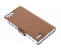 Bruin luxe booktype hoes Huawei Ascend G6