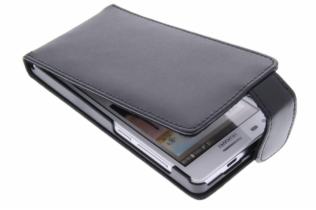 Zwarte stijlvolle flipcase voor de Huawei Ascend G6