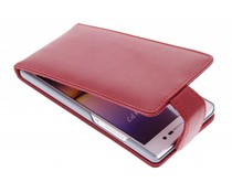 Rood stijlvolle flipcase Huawei Ascend P7