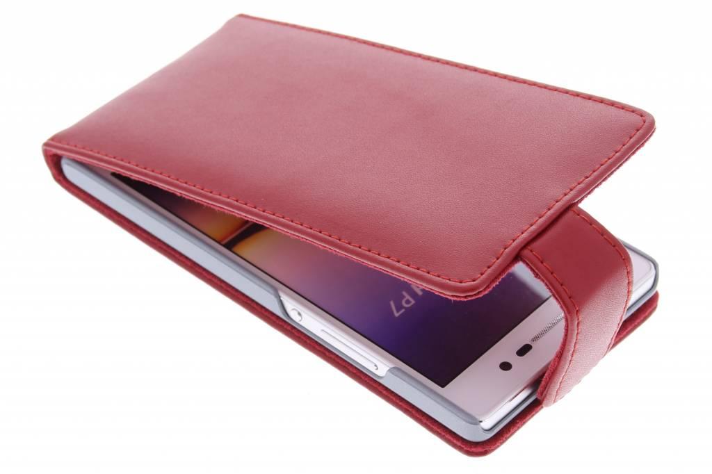 Rode stijlvolle flipcase voor de Huawei Ascend P7