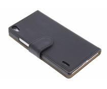 Zwart effen booktype hoes Huawei Ascend P7