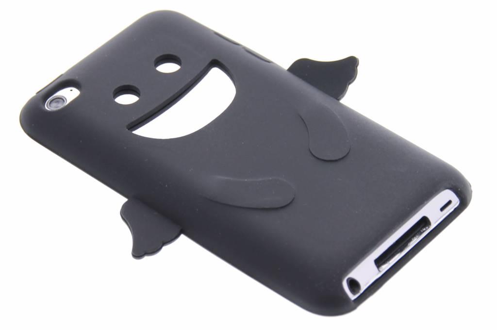 Zwart engeltje siliconen hoesje voor de iPod Touch 4g
