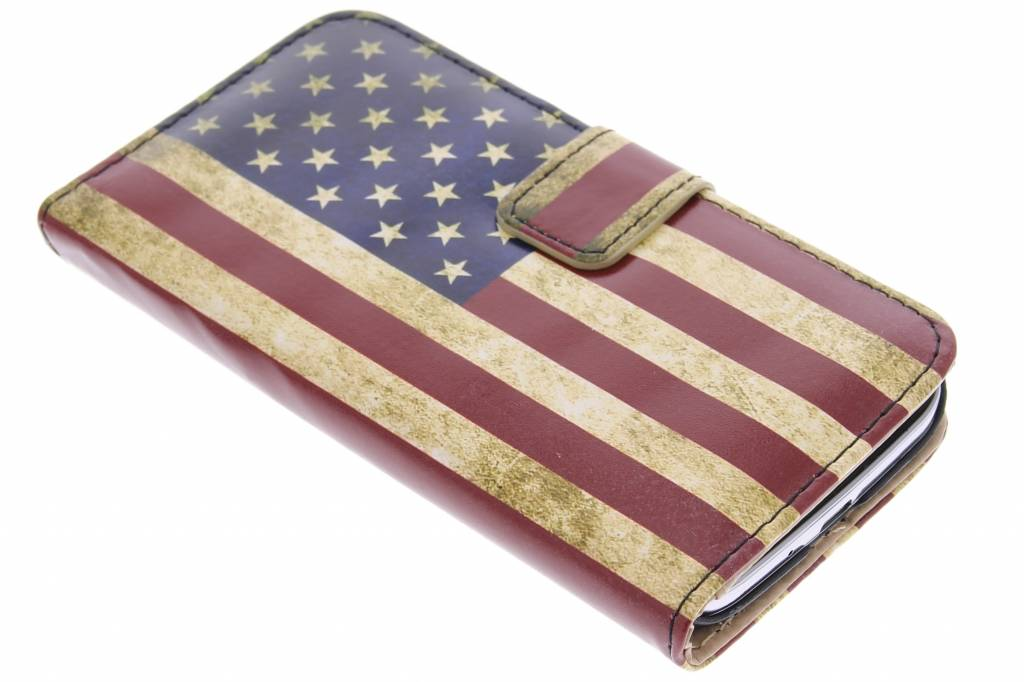 Amerikaanse vlag design booktype hoes voor de Samsung Galaxy S4