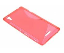 Rood S-line TPU hoesje Sony Xperia T3