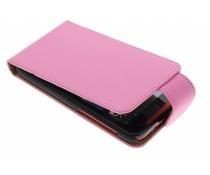 Roze classic flipcase HTC Desire 310