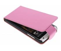 Roze classic flipcase HTC Desire 610