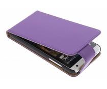 Paars classic flipcase HTC Desire 610