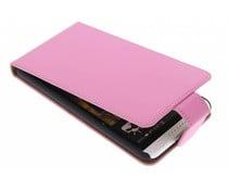 Roze classic flipcase HTC Desire 816