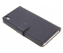 Zwart effen booktype hoes HTC Desire 816