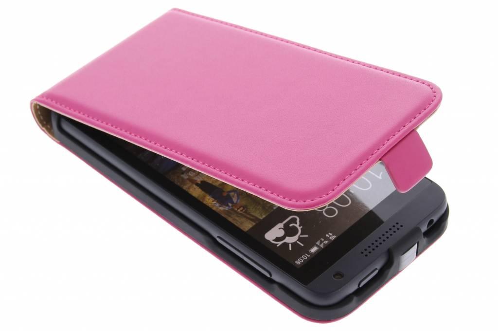 Fuchsia luxe flipcase voor de HTC Desire 610