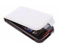 Wit luxe flipcase HTC Desire 310
