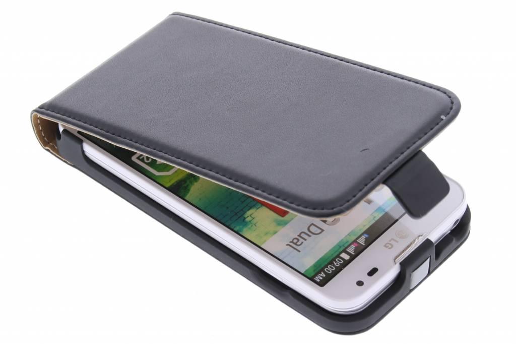 Zwarte luxe flipcase voor de LG L90