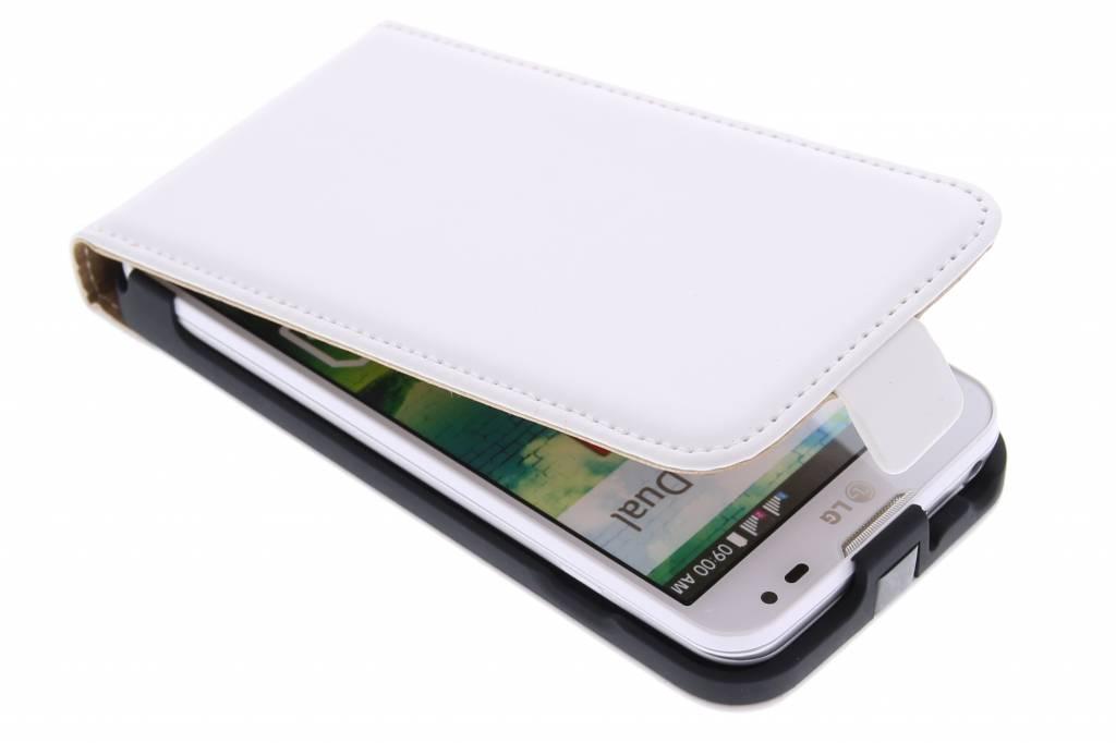 Witte luxe flipcase voor de LG L90