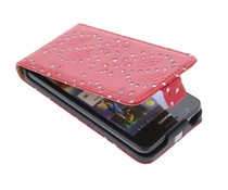 Rood bloemblad design flipcase Huawei Ascend G510